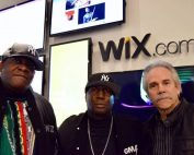Shown in photo is Jack Rannells with Grandmaster Flash and D.J. Chuck Chillout.